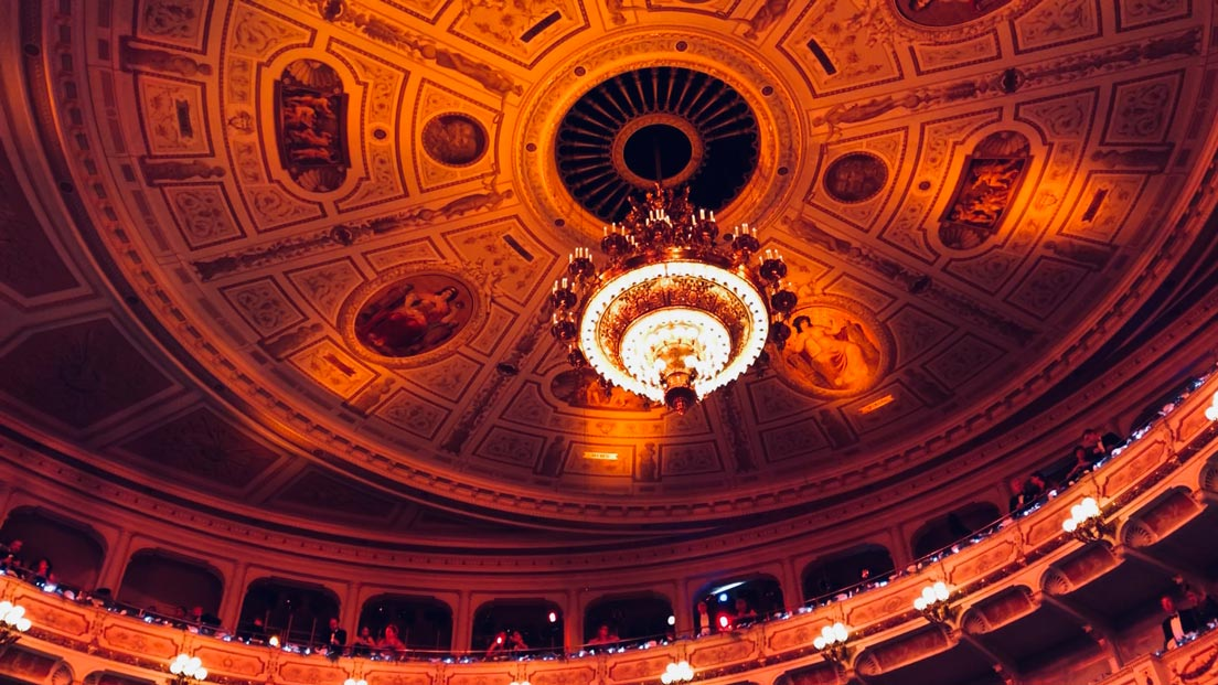 Semperopern Ball 2019, Deckenbild in der Oper
